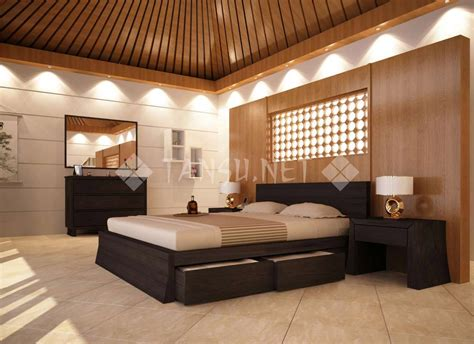 Bed Frame With Attached Nightstands by Cairo Storage Platform Bed Tansu Net