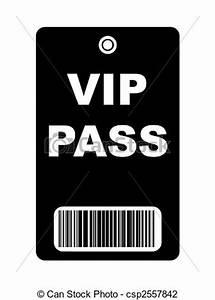 Clip Art of Black VIP Pass - Black VIP access pass with ...