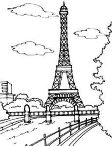 torre eiffel  colorear ninos preparaninoscom