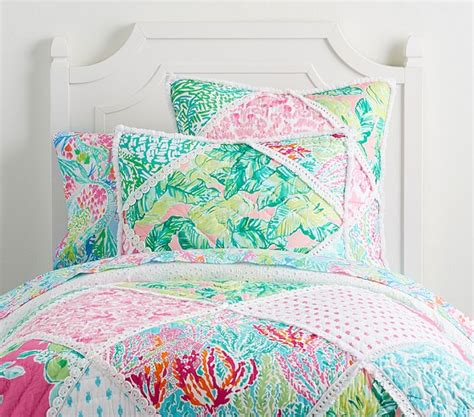 lilly pulitzer party patchwork quilt pottery barn kids