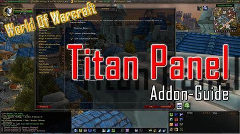 wow addon titan panel deutsch youtube