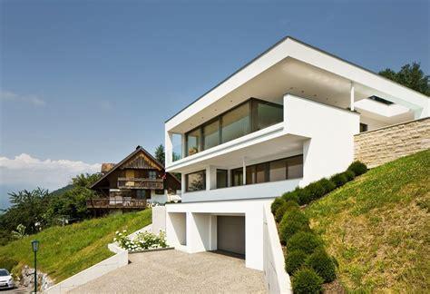 Moderne Häuser Beton by Einfamilienhaus Hanghaus Klaus Modern Edelstahlpool