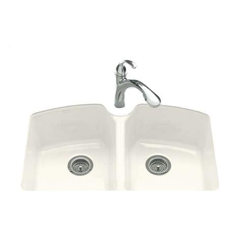 33 undermount kitchen sink kohler tanager undermount cast iron 33 in 3 hole double