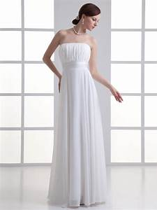 cheap simple white chiffon wedding dress floor length With wedding dress sizes compared to normal sizes