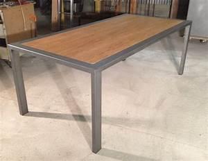 Table Chene Et Metal : table repas m tal et ch ne massif sur mesures ~ Teatrodelosmanantiales.com Idées de Décoration