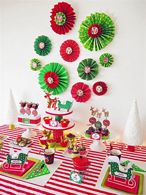 kid friendly christmas decorations how to make folded paper rosettes hgtv