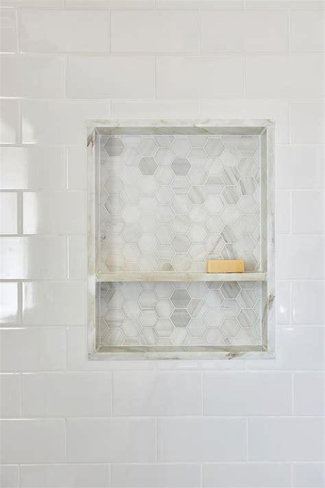tiled shower shelf ideas marble shower niche design ideas