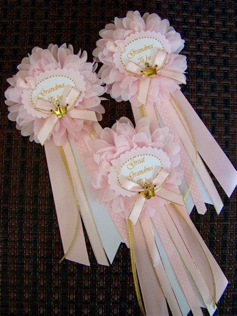 Baby Shower Pins For Corsages 2 Pink And Gold To Be Pin Princess Baby