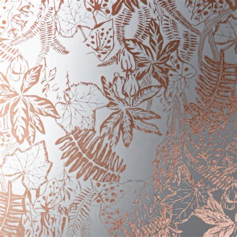 erica wakerly hothouse copper rose white wallpaper