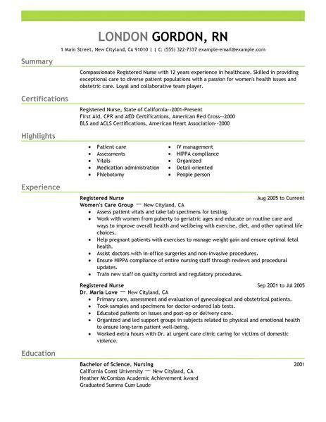 21760 resume exles for nursing best registered resume exle livecareer