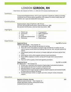 best registered nurse resume example livecareer With how to create a nursing resume