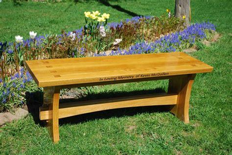 handmade memorial wood bench  larue woodworking