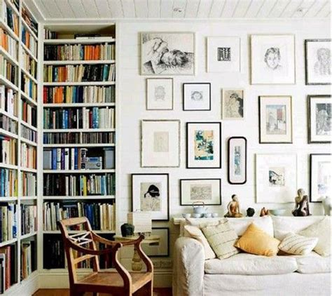 wall to ceiling bookcases home library gallery wall