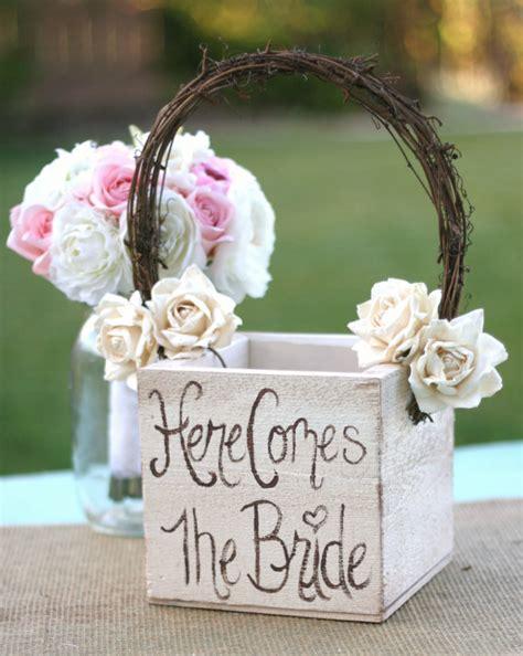 shabby chic wedding flowers decor shabby chic flower girl basket rustic wedding decor item mhd20097 new 1926371 weddbook