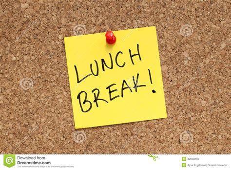 Lunch Break Stock Photo. Image Of Lunch, Announcement