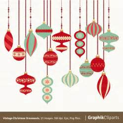vintage christmas ornaments clipart christmas clipart