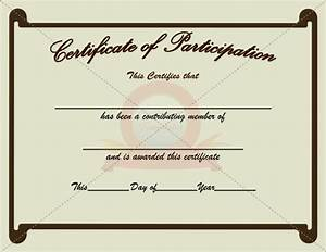 Certificate Of Participation Template Free 10 Best Images Of Certificate Of Participation Template Participation Certificate Template
