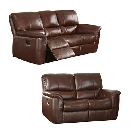 Reclining Sofa And Loveseat by The Concorde Wine Italian Leather Reclining Sofa And