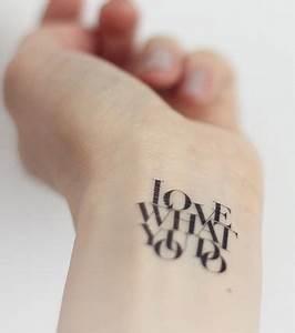 Sprüche Für Tattoos : schrift tattoo 20 tattoo ideen f r schriftz ge ~ Frokenaadalensverden.com Haus und Dekorationen