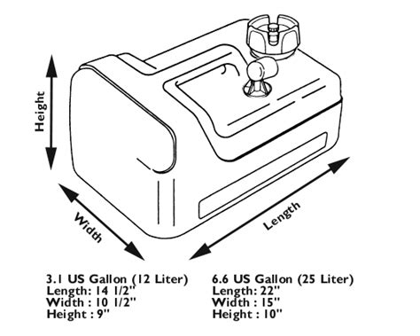 Marine Fuel Tank Dimensions by Fuel Tanks Connectors And Hoses Parts Accessories