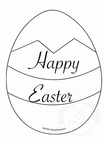 Easter Happy Egg Coloring Pages Template Templates