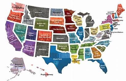 Tv Reality Popular Map State Shows Favorite