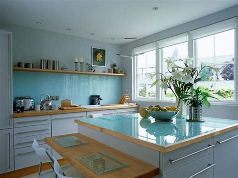 blue kitchen decorating ideas how to add blue color to modern kitchen design and decorating