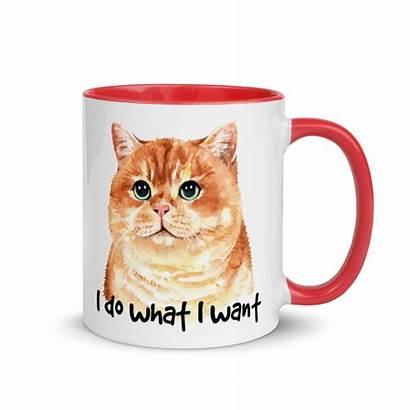 Cat Coffee Mug Funny Cup Inside Tea