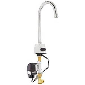 zurn battery powered gooseneck touchless sensor faucet in chrome z6923 xl the home depot