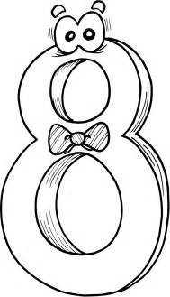 Number 8 Coloring Pages Printable