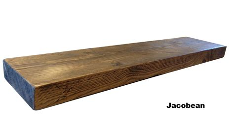 wood shelves floating reclaimed chunky floating shelf shelves wooden ebay