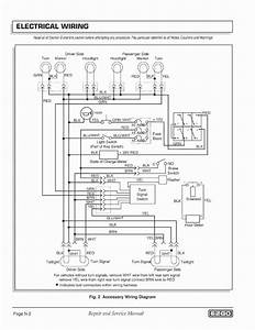 Wiring Diagram For Club Car Lights  Diagram