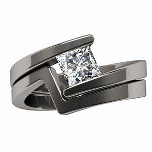 women s black titanium diamond rings wedding promise With womens titanium wedding ring