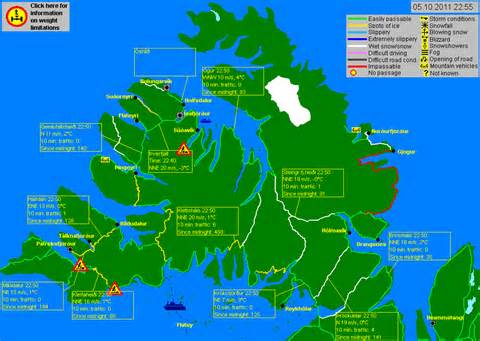 West Fjords Iceland Road Map Of