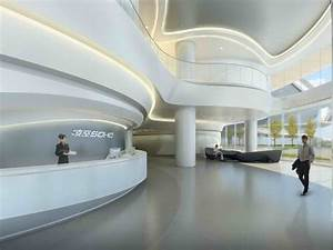 Home Design : Futuristic Interior Entrance Zaha Hadid ...