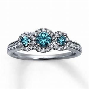 dark blue diamond engagement rings dark blue diamond With wedding rings blue diamond