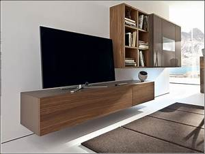 Furniture L Shaped Floating Tv Cabinets With Storage
