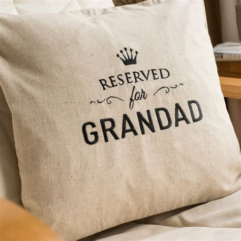 Personalised Natural Cushion  Reserved Seat