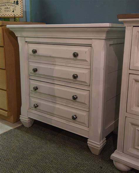 White Distressed Nightstand by White Distressed Nightstand New Home Furniture