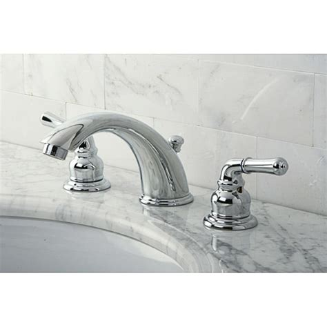 Stylish Chrome Widespread Bathroom Faucet  Free Shipping