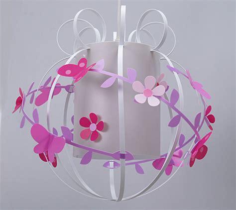 abat jour chambre garcon suspension fleurs de cerisier et papillons fabrique
