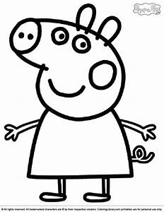 peppa pig coloring pages coloring home With peppa pig drawing templates