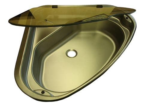 Spinflo Triangle Stainless Steel Caravan Sink With Glass