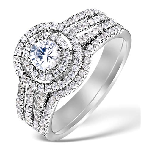matching diamond engagement and wedding ring 1ct si1 18k gold dn3237 item dn3237 ju3y