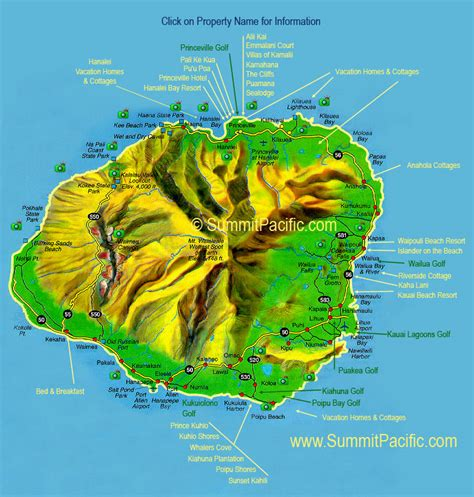 map kauai east coastat