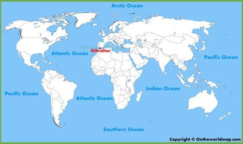 gibraltar location   world map