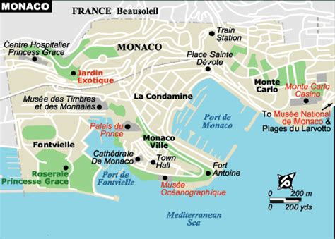 monaco map south  france pinterest monaco  france