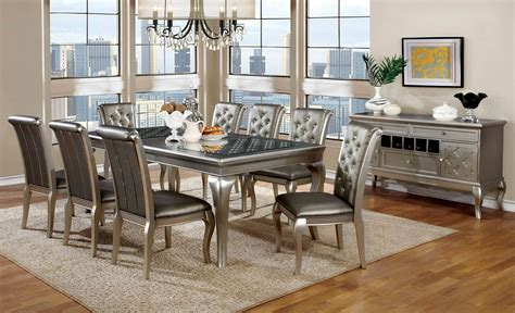 entertainment centers sale amina silver contemporary dining set