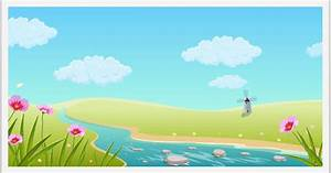 River Landscape clipart animated - Pencil and in color ...