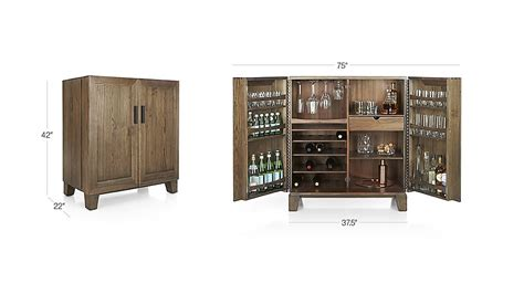 crate and barrel elan bar cabinet marin shiitake bar cabinet crate and barrel